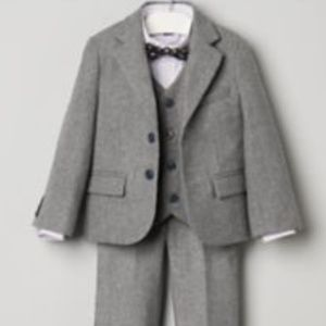 3 Piece Janie * Jack Wool Suit in Gray